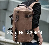 High Quality Fashion Black and Coffee Cotton Canvas Dual Function Men Travel Bags Carry on Luggage with Zipper Free Shipping