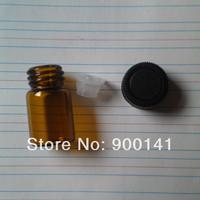 AMBER 15*27MM 2ml glass vial with orifice reducer screw plastic cap, 5/8 dram glass vials, glass bottles, 144pcs