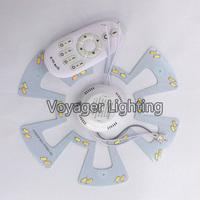 Retrofit Magnet Board 2.4G Color Temperature Warm White + Cold White Dimmer 18W LED SMD7030 ceiling light board 95V-265V