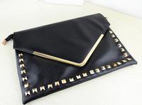 women's female handbag fashion  2014 new handbags v word retro rivet  bag Shoulder handbags - Free shipping