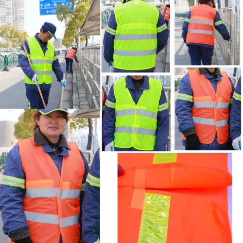 Light Thin Breathable Reflective Vests Environmental Sanitation Coat Safety Vest(China (Mainland))