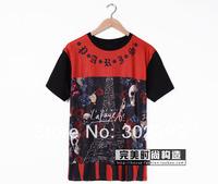 2014 spring and summer musium div lovers rose skull T-shirt short-sleeve tee