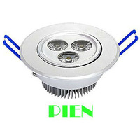 6W LED ceiling light Spot lamp Recessed AC85V~265V for indoor illumination Free shipping by DHL 20pcs/lot