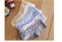 Spring and summer thin 100% cotton children socks boneless baby boy girl socks for 1-15 years Sweat-absorbent, Breathable, Cool
