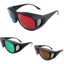 2014 livre dropshipping óculos tipo Universal 3D / vermelho azul ciano óculos 3D Filmes Filme Óculos 3D Atacado G034(China (Mainland))