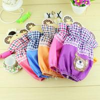 wholesale New cute cartoon printing bear short sleeve cuff adult children antifouling sleeve 12pc