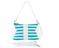 2014 women's bags messenger bag stripe all-match shoulder bag messenger bag color block