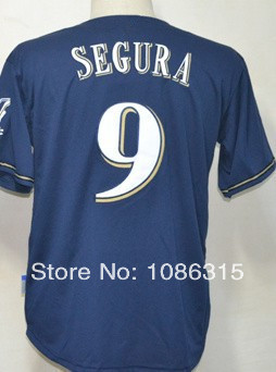 Free shipping Cheap,Wholesale Jean Segura #9 Youth/Kids Blue New Embroidery sewing logos Baseball jerseys Sale.ot Promotion!(China (Mainland))