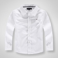New arrival 2014 Autumn Kids boy brand shirts white cotton shirts 2-8 years old Children