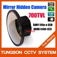 NEW 2014 Sony 960H CCD Effio 700TVL 0.001Lux  Video Surveillance Security Cam High Resolution Hidden Mirror CCTV Camera