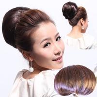 6 colors, Bun Hair Chignon, Hair Extension, Synthetic Donut Roller Hairpieces, Bride Hair Bun Hepburn's hair, 100pcs