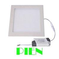 Ultra thin design 3W/4W/6W/9W/12W/15W/18W LED ceiling recessed grid down light slim square panel light free shipping 1pcs