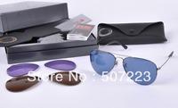 Caravan Flipout Sunglasses men women brand designer sunglasses 3460 gun (Changeable Lens)-59mm wholesale freeshipping