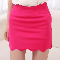 free shipping 1037 gentlewomen summer slim hip step short half-length elastic short skirt