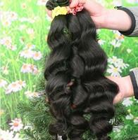 Brazilian virgin hair extension unprocessede natural color human hair weaves Grade 5A brush