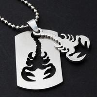 Non-mainstream fashion personality scorpion titanium general steel necklace pendant necklace