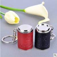 Coin tube keychain coin box small change tube storage box exquisite keyring