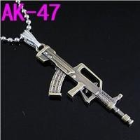 B7 fashion stainless steel necklace titanium steel pendant ak-47 gun lovers pendant accessories