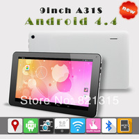 """New arrival Allwinner 9"""" A31S Quad core 9 inch Tablet pc Android 4.4 Kitkat dual camera 1GB/8GB 800x480 wifi DHL free shipping"""
