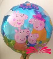 2014 New arrive 30pcs/lots wholesales Peppa Pig foil balloon Birthday party decoration cartoon balloons Hot sale
