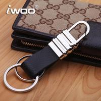 Free shipping Men key M001 leather waist hanged car key chain key rings wear originality Christmas