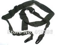 Tactical rifle sling belt (BK/Green/DE) CQB elastic bungee snap hook - Free shipping