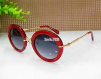 New MM Giltter Round SMU13NS High High Quality 1 by 1 Round Lense Acetate Frame Free Orignal PINK Case Luxury Designer Brand