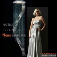 K9 crystal pendant light modern brief fashion stair led lighting