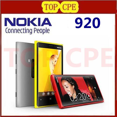 1 Year warranty Unlocked Original Nokia Lumia 920 refurbished Windows Phone 8 Dual Core 32GB Storage 4G cell phone(China (Mainland))