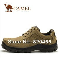 New arrival   authentic camel casual mans genuine leather shoes 0572256  two colors  free shipping