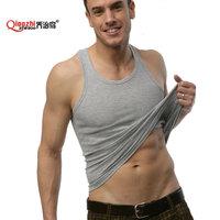 Summer hot-selling woven cotton rib knitting men's tank Tops long design Free Shipping