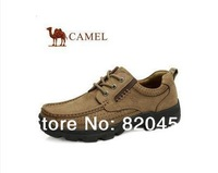 New arrival   authentic camel casual mans genuine leather shoes 8601  two colors  free shipping