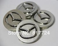 4x  56mm 2.2'' Silver Mazda ABS Wheel Center Hub Caps Fits Mazda 2.3.6.M2 M3 CX-5 CX-7 CX-9 RX-8 MPV
