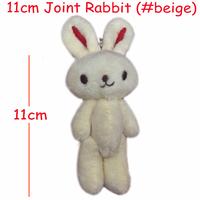 <H=11cm 40pcs/lot> Rabbit bare rabbit joints cartoon bouquet doll plush toy pendant lanyard for phone bag Decoration