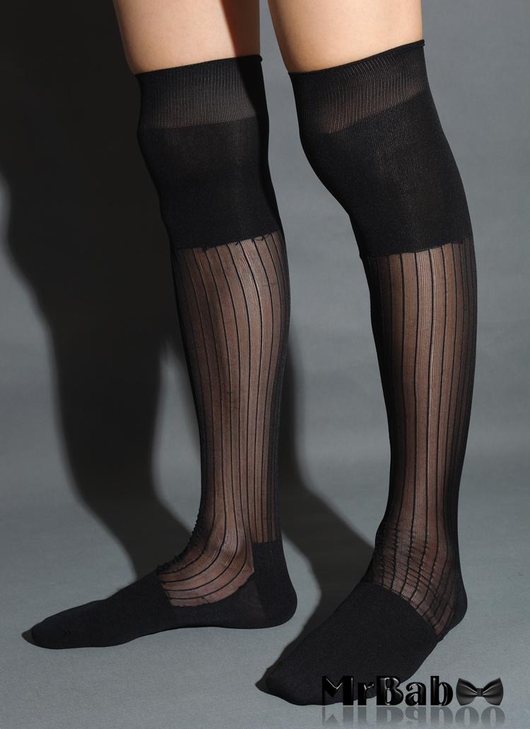 Mens Sheer Nylon Socks 95
