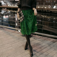 High quality!2014 New fashion forest feeling green lace bust skirt summer skirt women skirt free shipping drop shipping