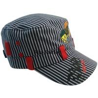 Child 100% cotton blue denim stripe little duck baseball cap cadet cap
