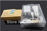 100sets/lot,Free Drop Shipping 3 in 1 Kit, 1A AC Wall Charger+USB Data Cable+2A Car Adapter For Samsung Galaxy Note2 S4 S3 S2HTC