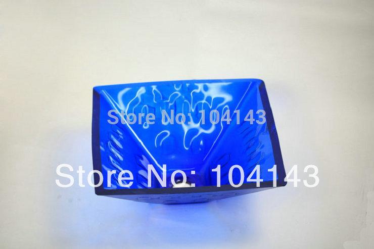 Online kopen wholesale blauw glas spoelbak uit china blauw glas spoelbak groothandel - Rechthoekige gootsteen ...