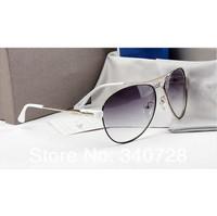 Top Quality Vintage Luxury Brand Logo White UV protection Fashion Sunglasses With Original Box For Women