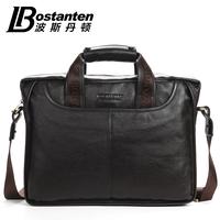 Bostanten dress commercial soft genuine leather bags men shoulder messenger business handbag