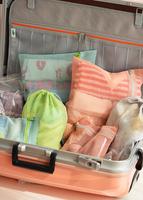 Brief travel storage grid cutout luggage clothing daily supplies storage bag set