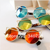 Luxury Vintage Multi Color Fashion Round Mirror Sunglasses with coating lens For Men and Women, 4 Colors