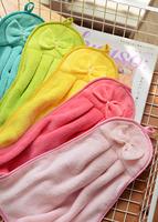 Brief houselinen fresh comfortable soft bow hand towel coral fleece towel