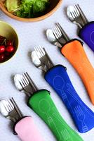 Eco-friendly brief stainless steel tableware portable storage set spoon fork chopsticks