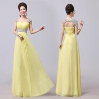 Free Shipping 2014 double-shoulder slit neckline slim design long evening dress formal dress dinner party evening dress
