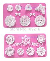 wholesale!!1set/2pcs Mini Pretty  Bud Silk  Lace (HY156 & HY157) Silicone Handmade Fondant/Cake Decorating DIY Mold