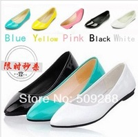 Summer new arrival 2014 candy color single flat shoes multicolour gentle women shoes