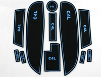 Free Shipping High quality Silica gel Gate slot pad,Teacup pad,Non-slip pad For 2013 Citroen C4 L/C4(11 pcs)