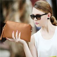 Genuine leather day clutch bag small women's cowhide bag one shoulder cross-body  handbag genuine leather